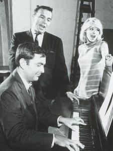 John Kander, Fred Ebb and Jill Haworth in 1966.