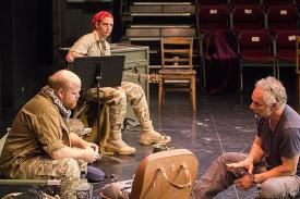 Michael Toomey, Greg Boover and Jonathan Epstein in rehearsal