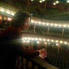 Me looking at the stage at the MSU Riley Center Opera House in Meridian, MS during the Gatsby tour.